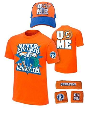 John Cena Never Give Up WWE Kids Boys Youth Costume-Orange-M (8)