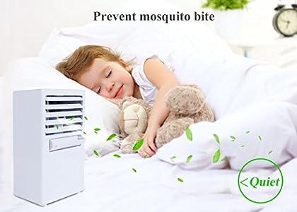 abreome refroidisseur d 39 air 2 in 1 climatiseur mobile ventilateur tischventilator portable. Black Bedroom Furniture Sets. Home Design Ideas