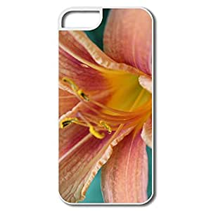 IPhone 5/5S Hard Plastic Cases, Lily White Covers For IPhone 5S