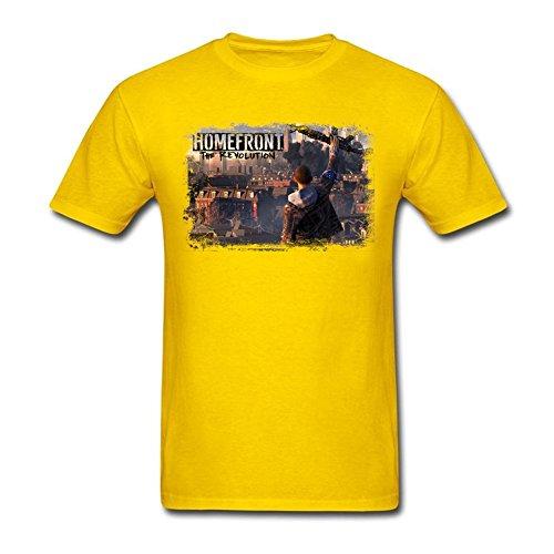 Price comparison product image QLJYKJ Men's Homefront The Revolution 100% Cotton Yellow T Shirts M