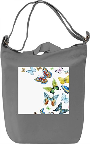 Butterfly Nature Texture Borsa Giornaliera Canvas Canvas Day Bag| 100% Premium Cotton Canvas| DTG Printing|