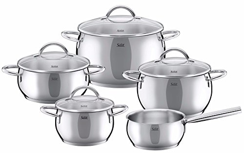 WMF Silit Nobile 9-pc Cookware Set, 18/10 Stainless - The Austin Hut