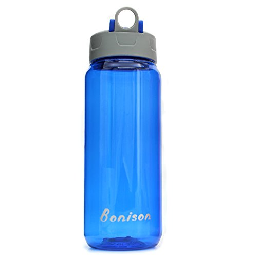 Clearance Sale-25 Oz Shake Bottle With Flip Top Spout Mixer Ball To Mix Protein Powder Easy Shaker Water Bottle (Blue) - Supplement Mixer