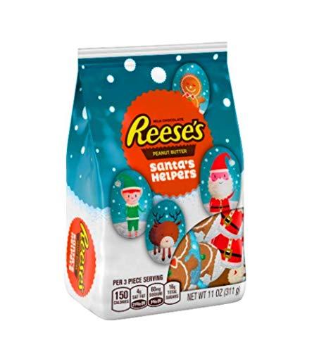 Chocolate Santa Foil - Reese's Christmas Santa's helpers stand up bag 11oz