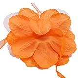 SOURBAN Flower Curtain Tieback Rope DIY Wedding Curtain Tieband Girl's Room Decor Accessories,Orange
