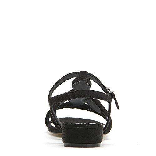 Alesya Scarpe&Scarpe - Flache Sandalen mit Steinchen, mit Absätzen 2 cm Schwarz