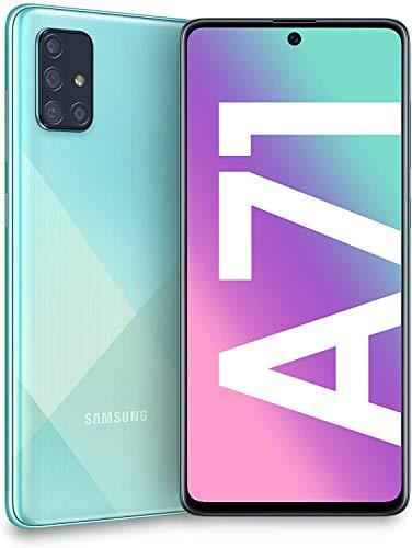 Samsung Galaxy A71 A715F 128GB Dual-SIM GSM Unlocked Phone (International Variant/US Compatible LTE) – Prism Crush Blue