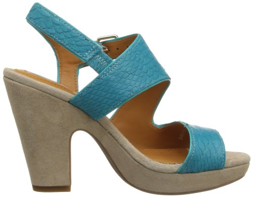 Geox Women's D Nurit B Fashion Sandals Turquoise Snake Print myIHb