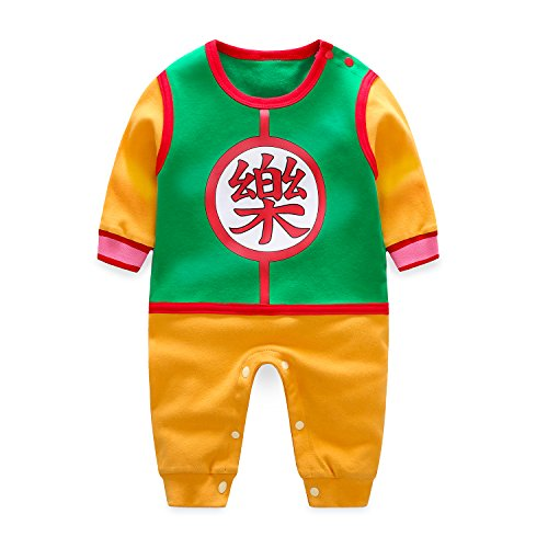 Newborn Baby Boy Girl Dragon Ball Cute Romper Jumpsuit Bodysuit Clothes Outfit Cosplay Playsuit]()