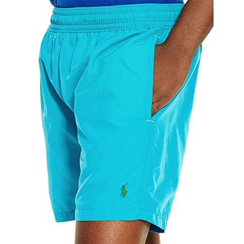Polo Ralph Lauren Men's Hawaiian Swim Boxer Boardshorts, Large, Blue