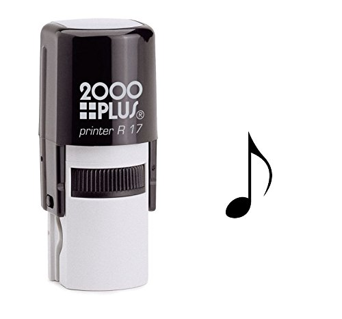 StampExpression - Eighth Musical Note Self Inking Rubber Stamp - Black Ink (A-6038) ()