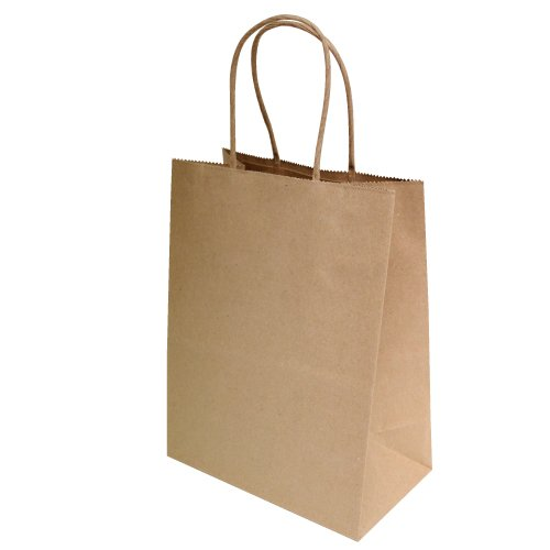 "8""x4.75""x10"" 50 pcs- Brown Kraft Paper Bags Shopping Bags Party Bags Retail Bags Craft Bags Brown Bag Natural Bag"