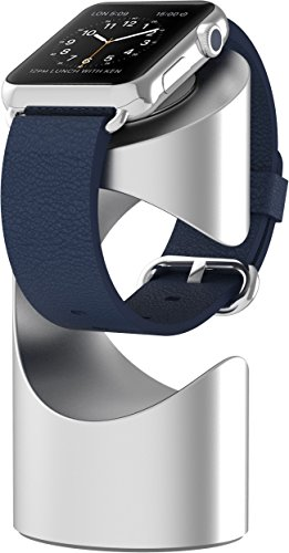 Just Mobile TimeStand Premium Aluminum Apple Watch Stand (ST-180SI) - Silver by Just Mobile