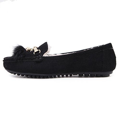 D2C Beauty Womens Flats House Slippers Moccasins Driving Shoes Slip On Loafers Black llET4zG