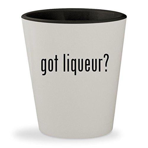 got liqueur? - White Outer & Black Inner Ceramic 1.5oz Shot Glass