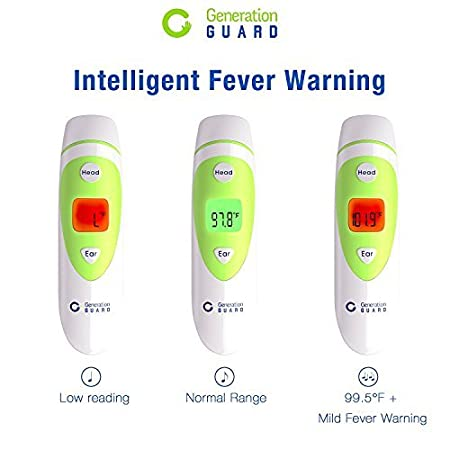 Amazon.com: Clinical Forehead and Ear Thermometer - Most Accurate Non-Contact Infrared Electronic Digital Dual Mode Instant Read Thermometer Fever Warning ...