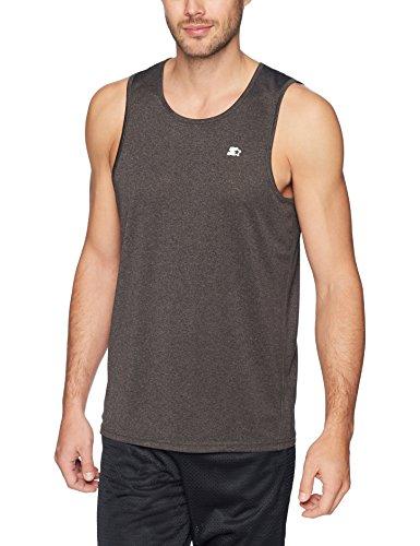 Starter Men's TRAINING-TECH Running Tank Top with Ventilation, Amazon Exclusive, Black, Medium (Sleeveless Shirt Tech)