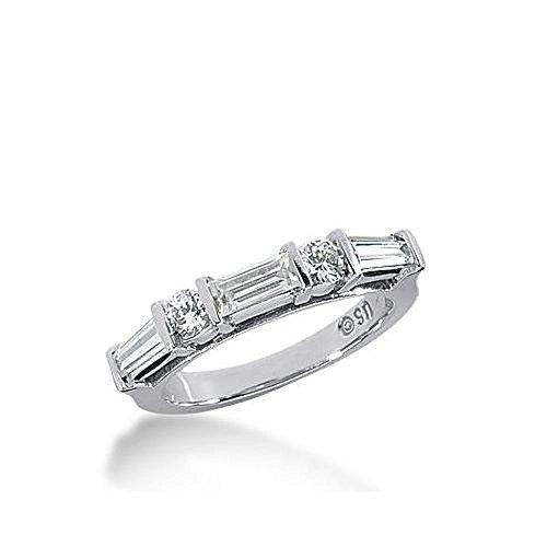 18k Gold Diamond Anniversary Wedding Ring 2 Round Brilliant 1