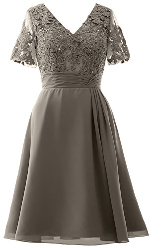 Pewter MACloth Dress Dress the Party Bride Mother of Wedding Short Women Midi Sleeves rqxnrA6
