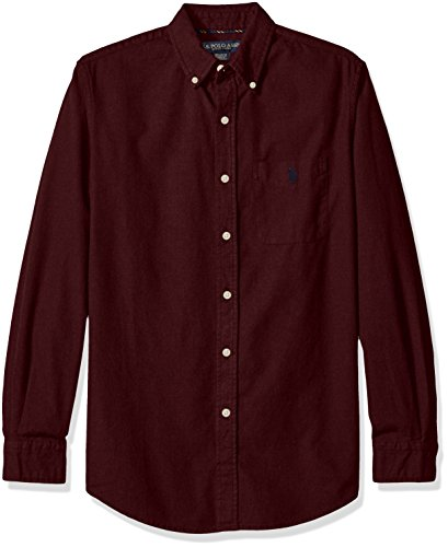 U.S. Polo Assn. Men's Long Sleeve Solid Oxford Cloth Button Down Woven Shirt