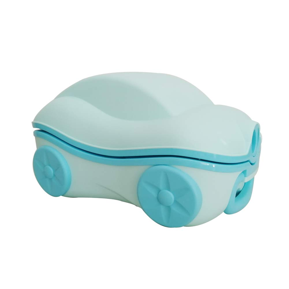 Glenmore Portable Travel Potty for Kids Car-Shaped with Carry Handle Mobile Toddler Toilet Pink
