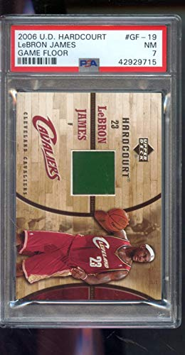 2006-07 Upper Deck UD Hardcourt #19 Lebron James Game Used Floor NM PSA 7 Graded NBA Basketball Card