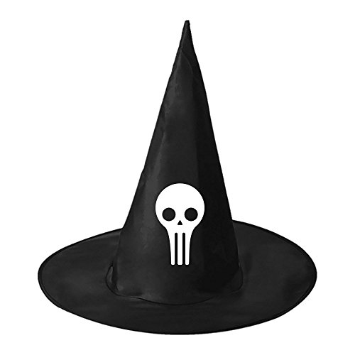 Adult Inflatable Evil Clown Costumes (Halloween hat Evil skull Buddy Black Deluxe Witch Costume Party Hat for Halloween)
