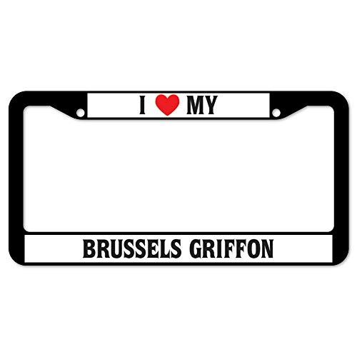 Yohoba I Love My Brussels Griffon License Plate Frame 12