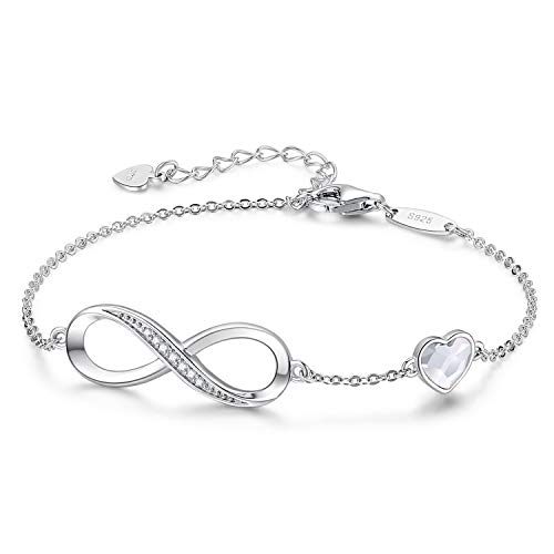 CDE Infinity Heart Symbol Charm Bracelet...