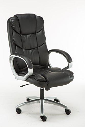 Cheap BTExpert Premium Ergonomic High Back Leather Executive Office Chair, Computer Desk Swivel, Black