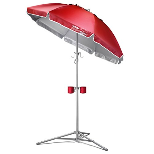 Ultimate Wondershade, Portable Sun Shade, Red