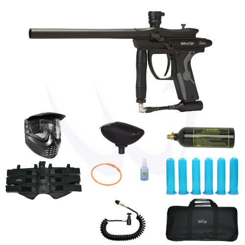 Spyder 2012 Fenix Paintball Marker Gun - Diamond Black Elite Package