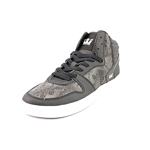 Sphinx Men's Black Leather Black Tonal Supra Skate Snake Shoe T6cZdT1