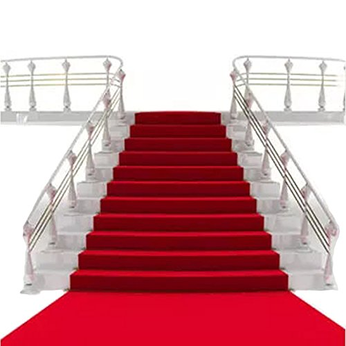 Sexyrobot Fabric Oscar Party Movie Night Hollywood Red Carpet Style Wedding Aisle Runner, for Step and Repeat Display, Ceremony Parties and Events Indoor or Outdoor Mother's day Decoration 40