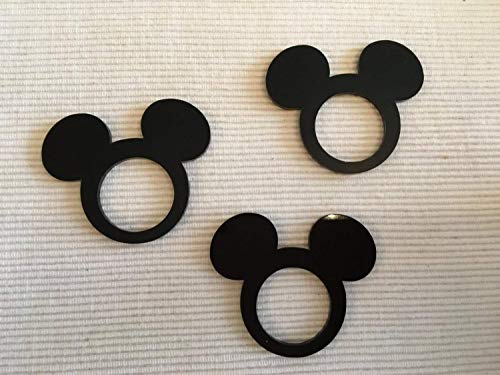 Mickey Mouse Ears Minnie Mouse with Bow Acrylic Napkin Ring Holders for Kids Birthday Party Decor Mickey Theme Party Favors Disney Decorations Tableware Cartoon Table Settings Clubhouse Cloth Napkins by FranJohnsonHouse (Image #4)
