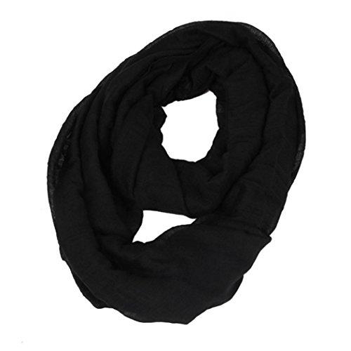Veenajo Womens Chic Autumn Soft Neckchief Light Weight Infinity Loop Jersey Scarf