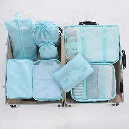 Size : Small Set of Travel Storage Bag Luggage Bag Cube Storage Bag Multi-Function Clothing Sorting Bag