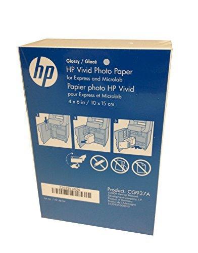 HP 4x6 Glossy Vivid Photo Paper 900 Sheets CG937A Borderless