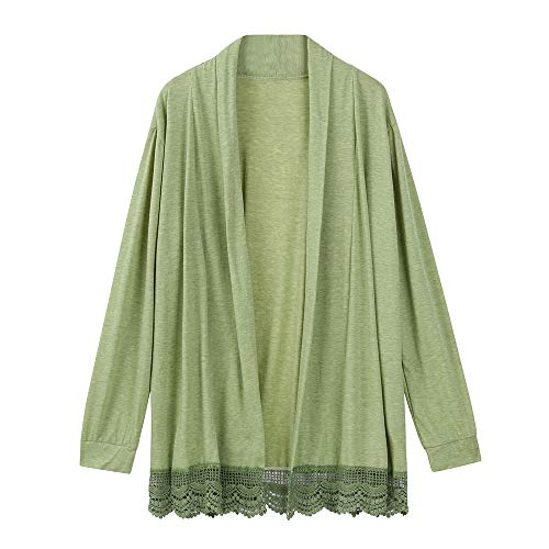 G-real Fall Winter Bouse for Women, Long Sleeve Kimono Cardigans Lace Cover up Loose Blouse Tops by G-real (Image #4)