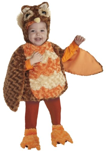[Underwraps Toddler's Owl Belly-Babies, Brown/Orange/Tan, X-Large] (Infant Owl Halloween Costumes)