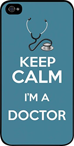 Keep Calm I'm A Doctor-Blue- Hard Black Plastic Snap - On Case -Apple Iphone 6 ONLY- Great Quality!
