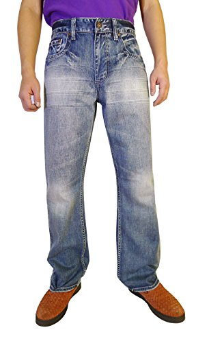 Flypaper Men's Fashion Bootcut Blue Jeans Regular Fit Mens Work Pants Light Blue 29W x 30L