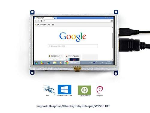 Raspberry Pi 5inch HDMI LCD (B) 800x480 Resolution Resistive TFT Touch  Screen Display HDMI Interface for Raspberry Pi 3/2/1 Model B B+ A+ Zero, BB
