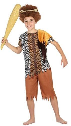 Boys Girls Caveman Cavegirl Prehistoric Carnival Halloween Fancy Dress Costume Outfit 3-12 Years (7-9 Years)]()