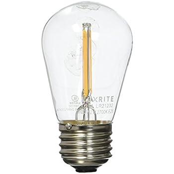 Luxrite Lr21232 Led Filament S14 Light Bulb 1 5 Watt