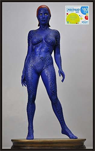 Sexy Mystique-Raven 1/2 Scale Superhero Statue Prop and Smart Sim Card Combo Purchase (Mystique Costumes)