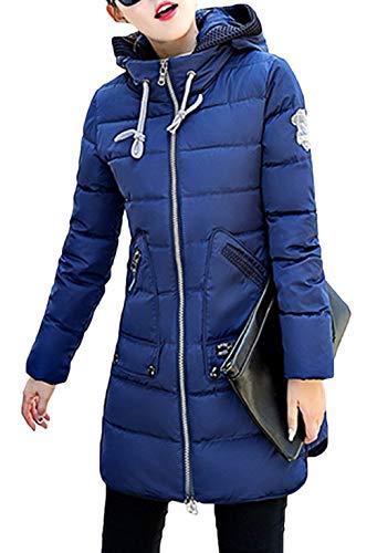 Otoño Outerwear Joven Termica Pluma Oversize Casuales Mujer Invierno Cómodo Chaquetas Duradero Abrigo Sólidos Parkas Moda Plumas Espesar Abrigos Colores Blau Mujeres Battercake 0wtZqRFZ