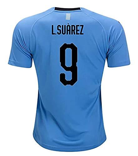 470aef6cd Mu Dou Zhi Neng National 2018 Team World Soccer Cup Uruguay Luis Suarez 9  Home Stadium Mens Jersey XL