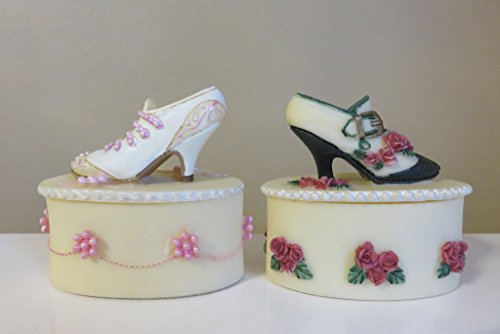- Miniature Collectible Ladie`s Shoe Trinket Box Set of Two