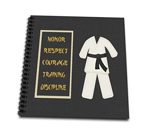 3dRose db_180798_2 Karate Karate GI Uniform Black Belt Honor Respect Courage Train Discipline-Memory Book, 12 by 12